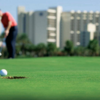Enjoy four championship golf courses
