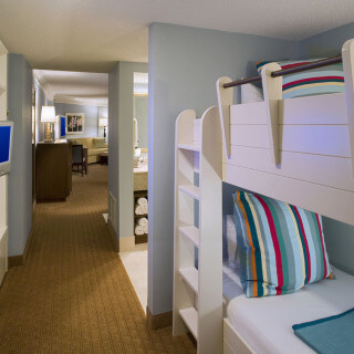 Deluxe Junior suite with bunk bed area