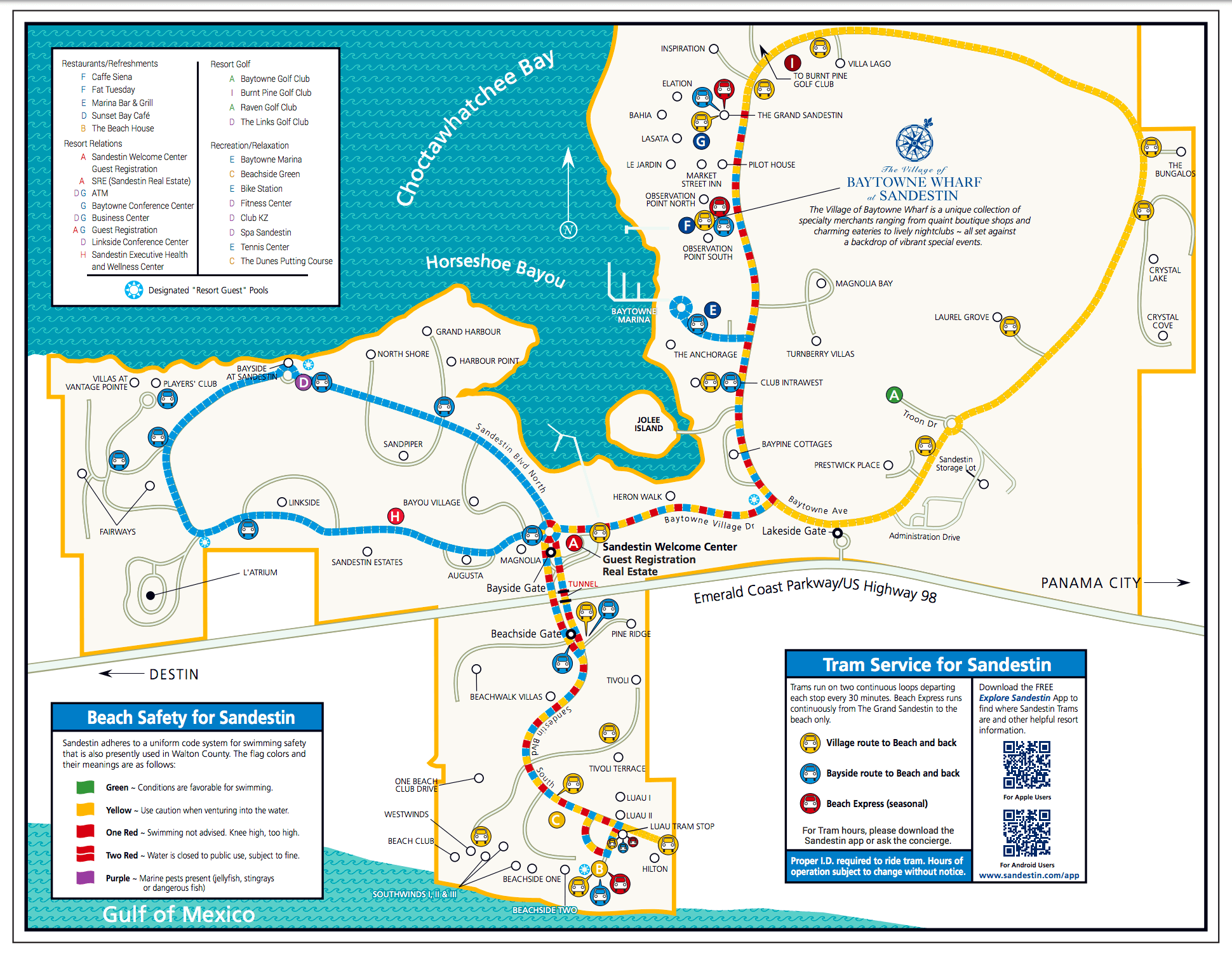 Sandestin Resort Map Area Maps | Sandestin Beach Maps | Hilton Sandestin Beach Golf
